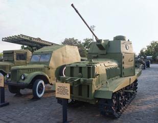 Kiev, improvised wwii light tank (armored tractor)