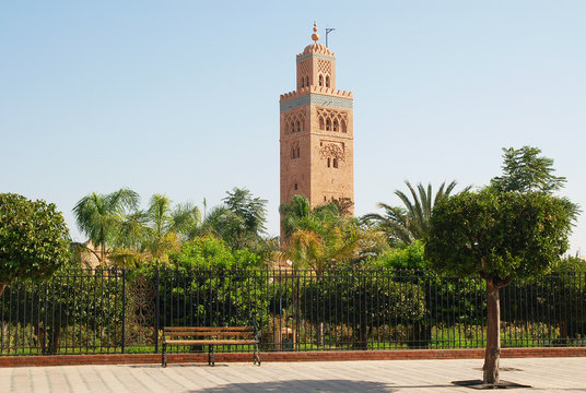 Minaret of the Koutoubia Mosque in Marrakech