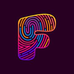 F letter line logo.