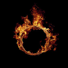 Photo sur Plexiglas Feu, Flamme Ring of fire