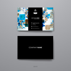 Set of brochure, poster design templates in abstract geometric background style