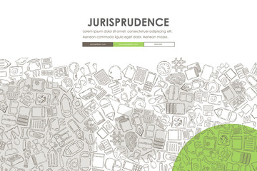 jurisprudence Doodle Website Template Design