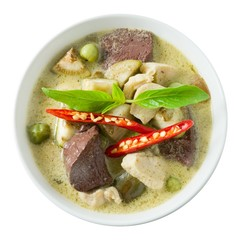 Thai Green Curry with Chicken and Green Eggplant