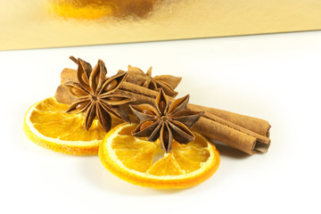 decorations with dried fruit