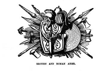 Vintage Woodcut Artwork Arms