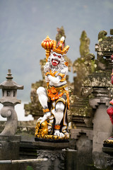 demon statue in Hindu temple