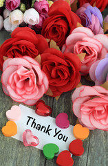 message of thank you with flowers