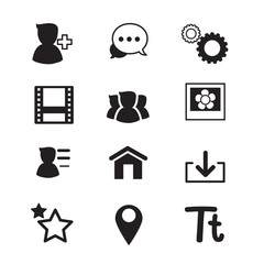 Social Network icons set Vector illustration