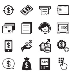 Finance & banking icons, credit card, atm Illustration Vector Sy