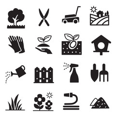 silhouette Lawn icons