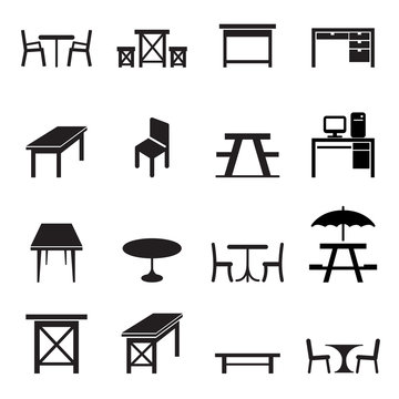 table icons set