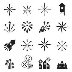 Firework icons set 2