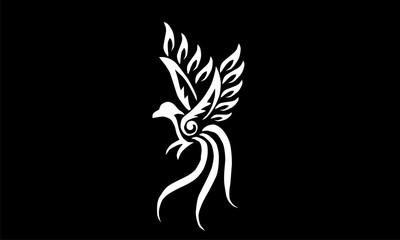 bird of paradise decoration vector