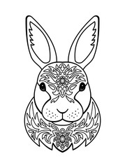 Ornamental White Rabbit