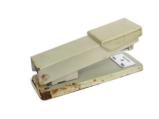 Old rusty stapler