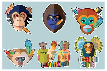 Monkey Stickers and Monkey Sticker Designs