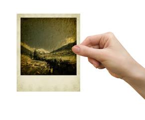 polaroid card