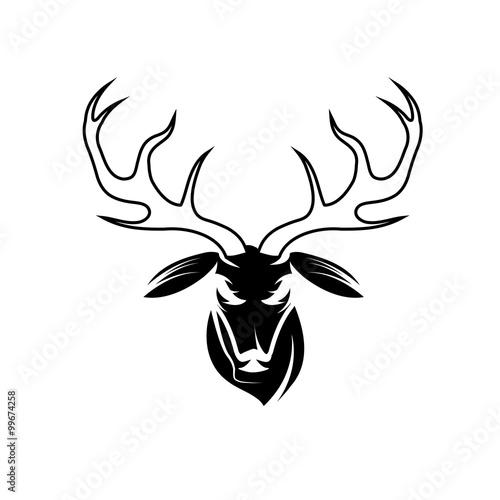 deer head vector design template\