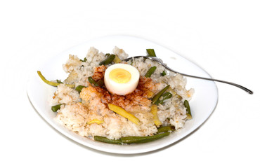 egg dish with rice