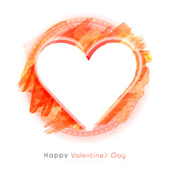 Greeting card with hearts for Valentine's Day.