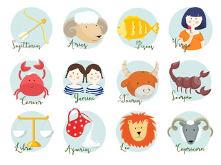 Raster horoscope signs