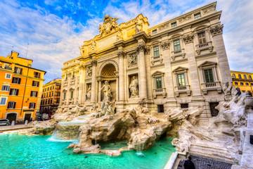 Aluminium Prints Rome Rome, Trevi Fountain. Italy.