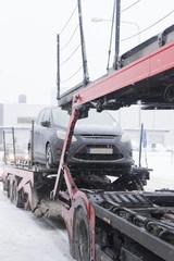 Car Transporter in winter time