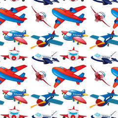 Seamles different design of airplane