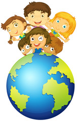 Children living on earth