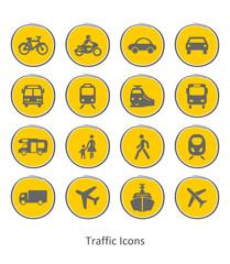Icons Fahrzeuge und Verkehr