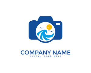 Sea Photography Logo Design Template