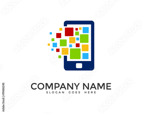 """Mobile Apps Logo Design Template"" Stock image and royalty ..."