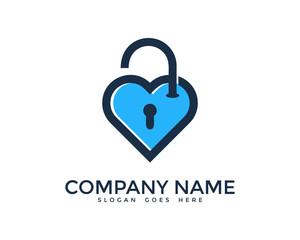 Unlock Love Logo Design Template