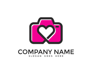 Camera Love Photography Logo Design
