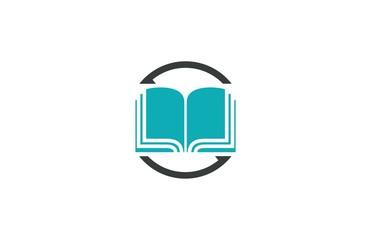 circle arrow book logo