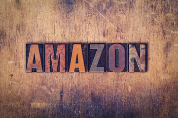 Amazon Concept Wooden Letterpress Type