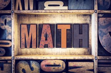 Math Concept Letterpress Type