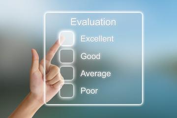 hand pushing evaluation on virtual screen