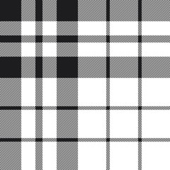 Hibernian fc tartan check plaid black and white pattern seamless