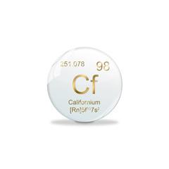 Periodensystem Kugel - 98 Californium