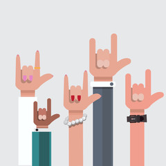 love hand sign. show - vector