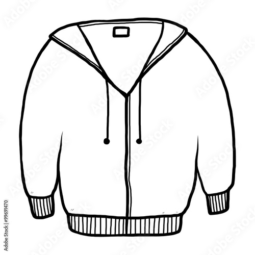 winter coat clip art black and white
