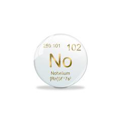 Periodensystem Kugel - 102 Nobelium