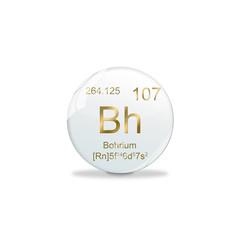 Periodensystem Kugel - 107 Bohrium