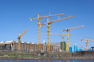 Baustelle Stadt Baugewerbe
