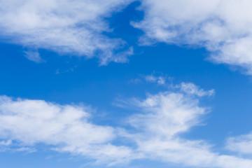 sfondo con cielo azzurro e nuvole alte cirri