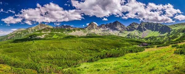 Obraz Panorama of the Tatras from a mountain trail - fototapety do salonu
