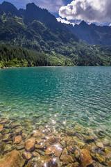 Papiers peints Saumon Pond in the Tatra Mountains at sunrise