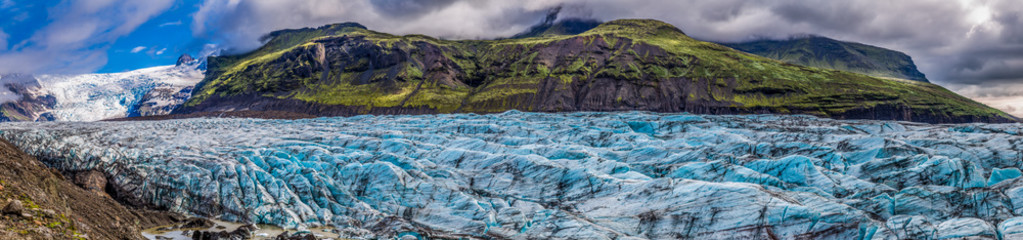 Wall Murals Glaciers Panorama of stunning Vatnajokull glacier and mountains in Iceland