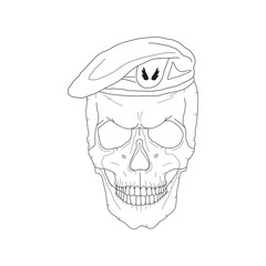 Skull in a beret